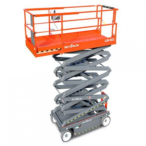 Scissor lifts battery